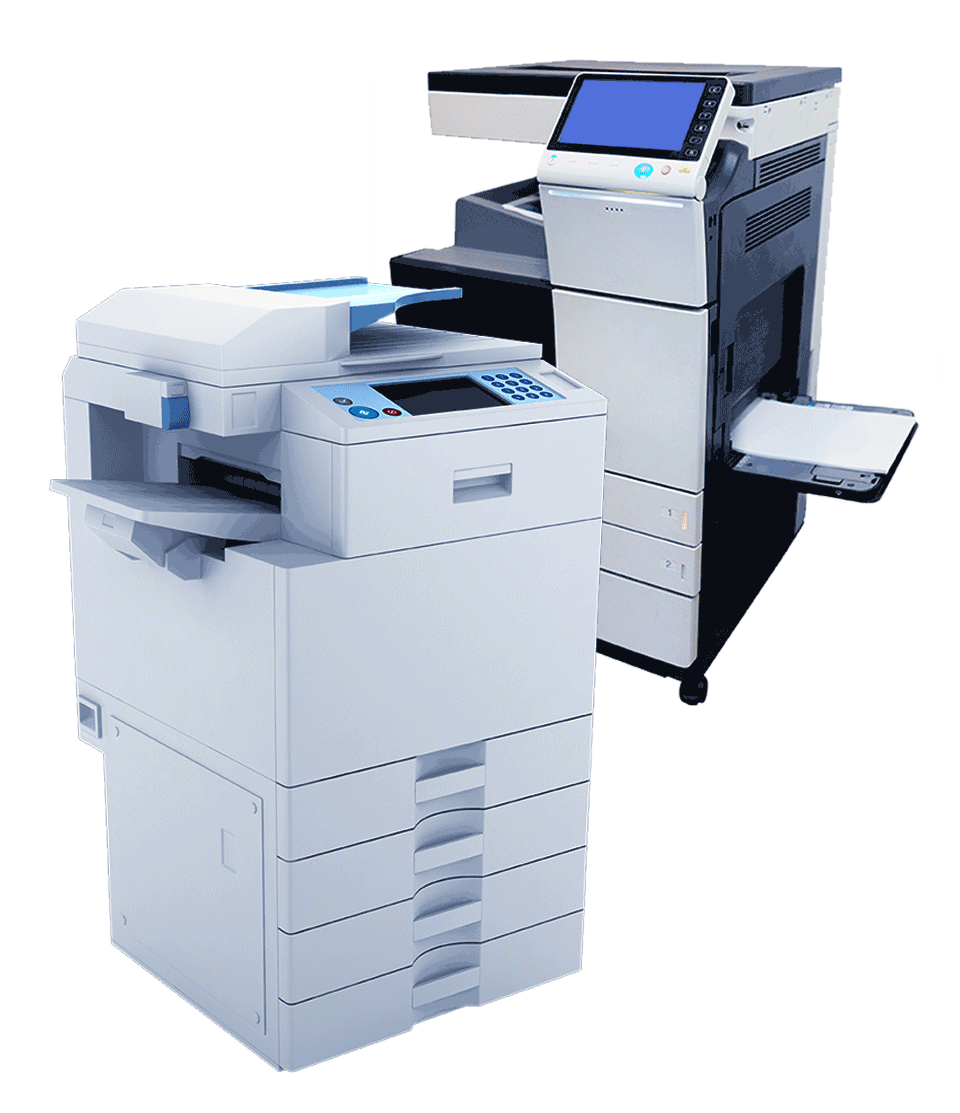 Two Large Copiers